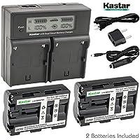 Kastar LCD Dual Smart Fast Charger & 2 x Battery for NP-FM500H NP-FM500 and Sony Alpha SLT A58 A57 A65 A77 A99 A77V A77II A350 A450 A500 A550 A700 A850 A900 CLM-V55 DSLR Camera