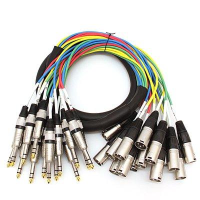 Seismic Audio - SAXT-16x5M - 16 Channel 5' XLR Male to 1/4