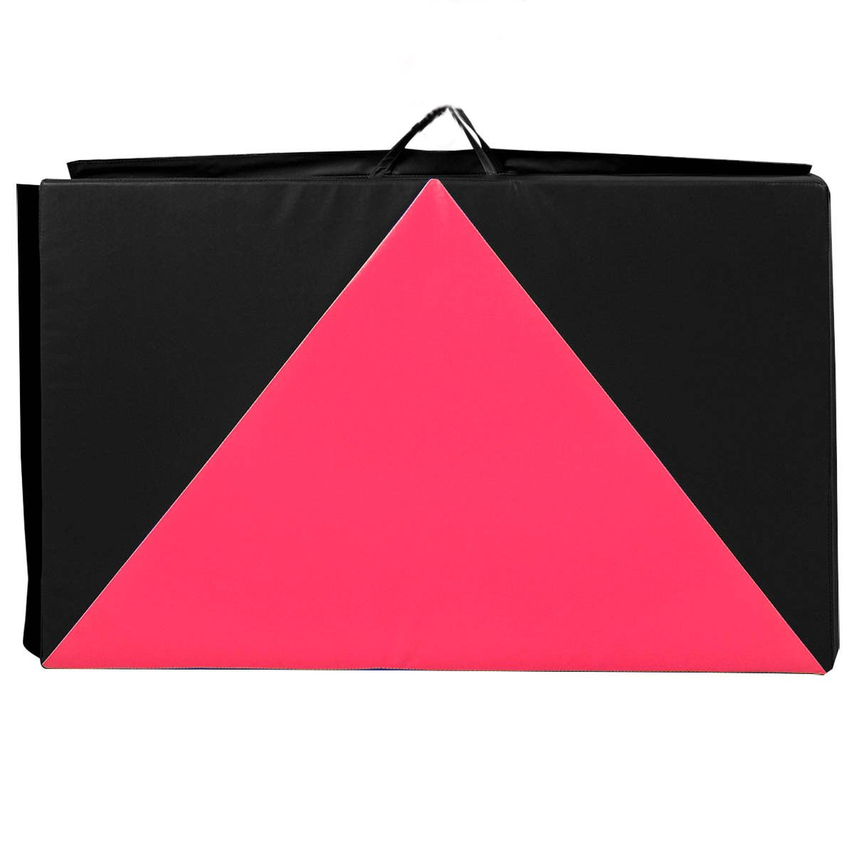 Pink/Black , 4'x10'x2'' Gymnastics Mat Folding Panel Thick Gym Fitness Exercise by Exercise Mats