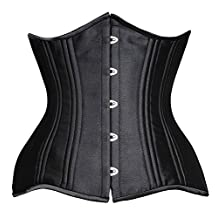 Camellias 24 Double Steel-Boned Waist Trainer Corset Shaper Waist Training Corset