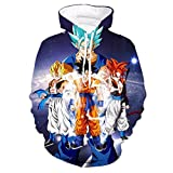 CHENMA Men Dragon Ball 3D Print Pullover Hoodie