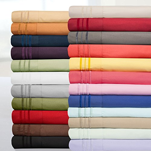 Sweet Home Collection 1800 Thread Count Egyptian Quality Brushed Microfiber 4 Piece Deep Pocket Bed Sheet Set, Queen, White by Sweet Home Collection (Image #5)