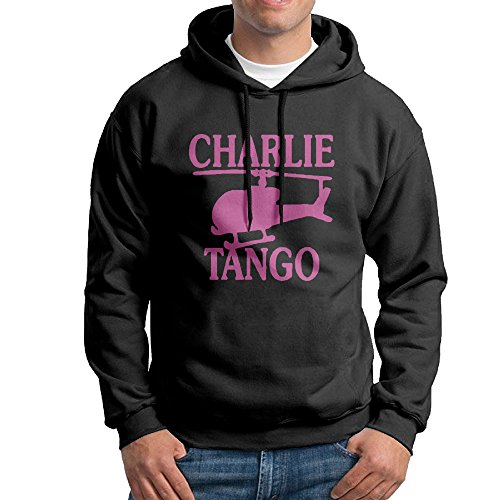 50 Shades Of Grey Charlie Tango Black 80s Hooded Hoody (Cast And Crew Of 50 Shades Of Grey)