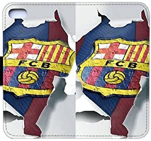 Wunatin Flip Case,FCB iPhone 5/5S/SE Leather Wallet Case [with Free Touch Stylus Pen] BA-8777336