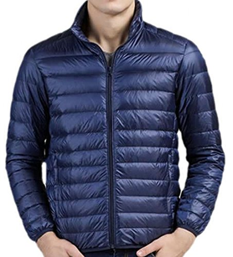 EKU navy Lightweight Mens blue Solid Fashion XL Down Jacket Coats TqrTHU8
