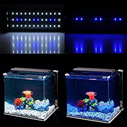 Deckey White+ Blue Aquarium Fish Tank LED Light Universal Extendable Bracket LED Fish Lamp
