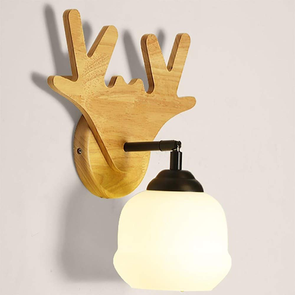Lampada Lampada Pareteapplique Da Parete Lampade Da Parete  Lampada Da Parete Antlers Simple Modern Aisle Corridor Bedroom 32  18Cm E27