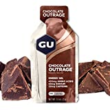 GU Energy Original Sports Nutrition Energy Gel, Chocolate Outrage, 24-Count Box