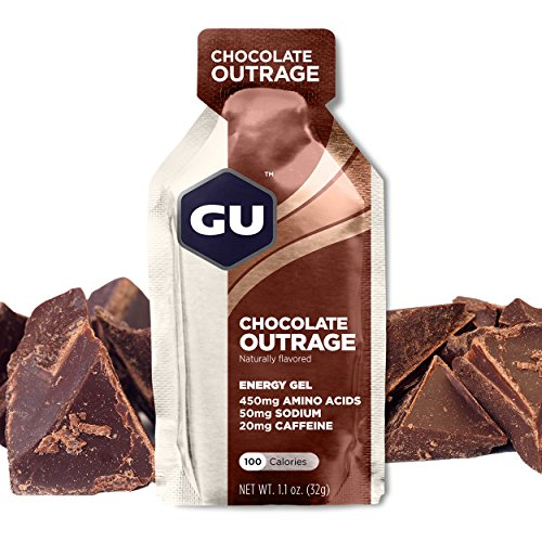 Frosting Body Chocolate - GU Energy Original Sports Nutrition Energy Gel, Chocolate Outrage, 24-Count Box