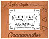 ThisWear Grandma Gifts Fell in Love Became Grandmother Natural Wood Engraved 5×7 Landscape Picture Frame Wood Review