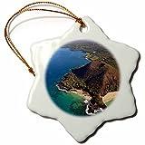 3dRose orn_144216_1 Coastline, Puu Olai, Beaches, Maui, Hawaii, Usa Us12 Dpb2726 Douglas Peebles Snowflake Ornament, Porcelain, 3-Inch