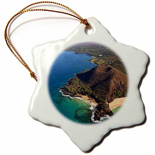 3dRose orn_144216_1 Coastline, Puu Olai, Beaches, Maui, Hawaii, Usa Us12 Dpb2726 Douglas Peebles Snowflake Ornament, Porcelain, 3-Inch by 3dRose