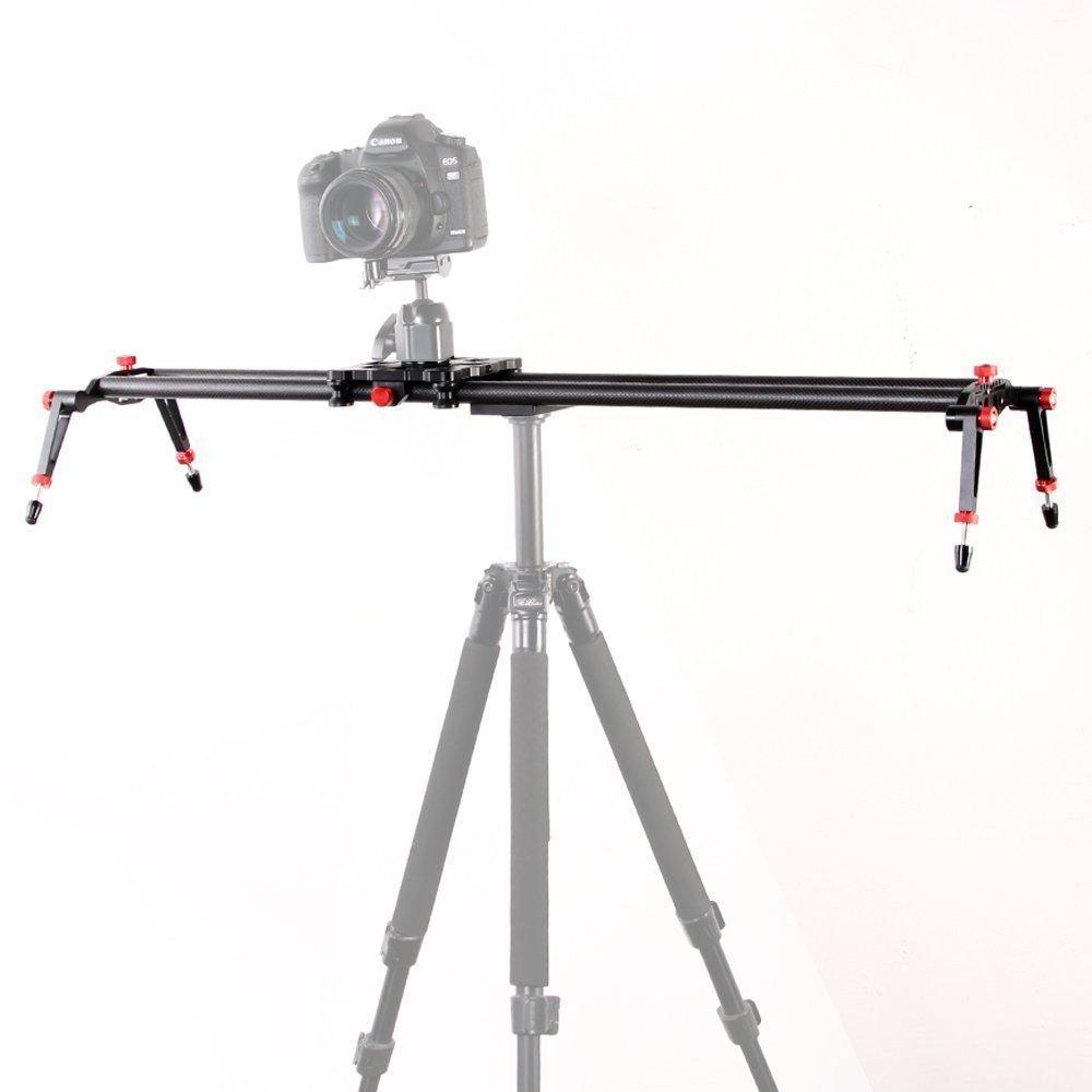 Fotga 32''/80cm Professional Carbon Fiber Slider Stabilizer for Dslr Camera Camcorder Video Filmmaker Tripod Ball head etc.