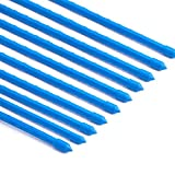 Cheap Rust-free Garden Plant Stakes Post for Tomatoes, Trees, Cucumber, Fences, Beans, Blue Plastic Coated Steel Tube Stakes, Dia 8MM x H 1.2M 10 Pack