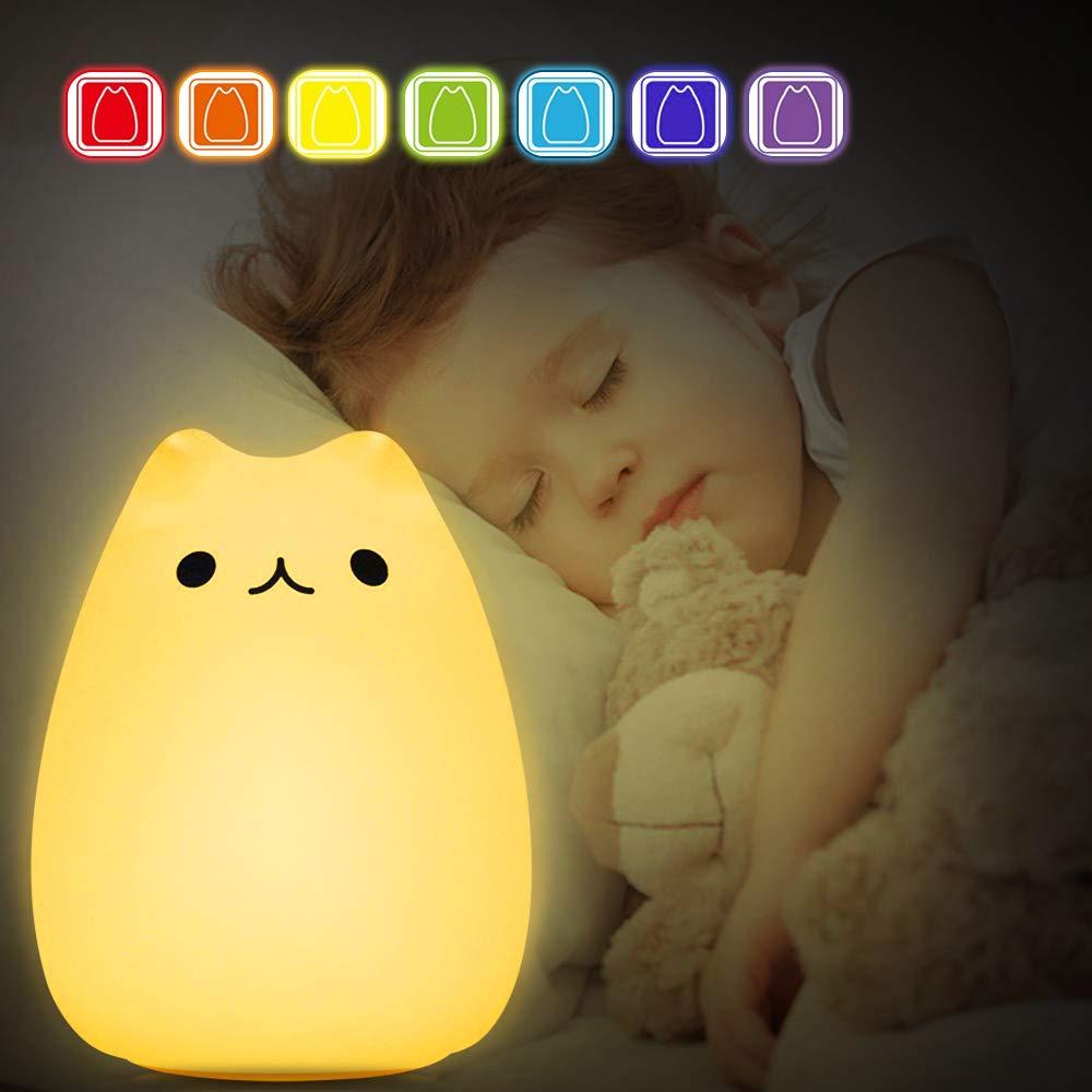 LED Nachtlicht Kinder, omitium Baby Nachtlampe Touch Lampe mit Farbwechsel Nachtlicht USB Wiederaufladbare Nachttischlampe fü rs Schlafzimmer und Wohnrä ume, Stimmungslicht, Dekoratives Nachtlicht