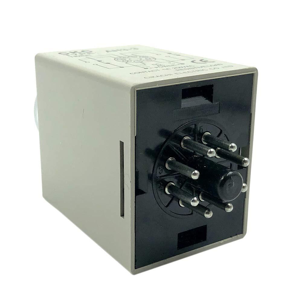 Woljay AH3-2 220 V CA, 8 pines, 0-30 min, con base de soporte Temporizador de tiempo