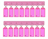 Acrimet Key Tag Rack w/8 Keyring Tags (2 Pack) (Pink)