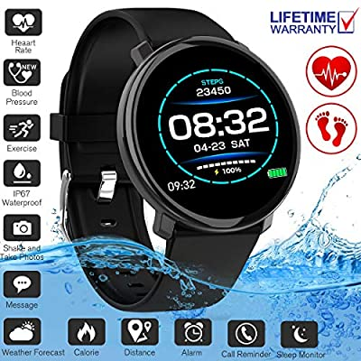 YUFENGGF Fitness Tracker,Activity Tracker Smart Watch with Heart Rate Monitor Touchscreen,Waterproof Bluetooth Smartwatch Sport Fitness Activity Tracker Watch Compatible with Android Phone Kids Women