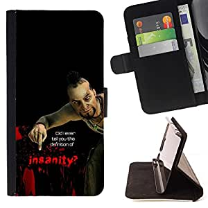Momo Phone Case / Flip Funda de Cuero Case Cover - Psycho B0Rderlands Tf - Insanity - Samsung Galaxy J1 J100