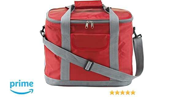 Bolsa nevera roja de alta calidad en nailon 420d: Amazon.es ...