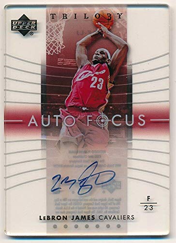 BIGBOYD SPORTS CARDS Lebron James 2004/05 UD Upper Deck Trilogy AUTO Focus ON Card Autograph SP Rare