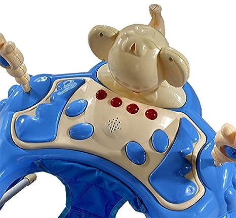 Andador para bebés regulable en altura con juguetes y sonido ...