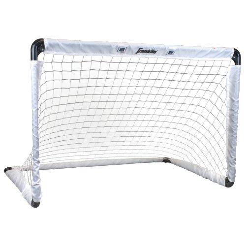 (Franklin Sports Steel Soccer Goal - 36 x 24 Inch Size - Easy Assembly - Convenient Fold Flat Design for Storage - Target Age Group)