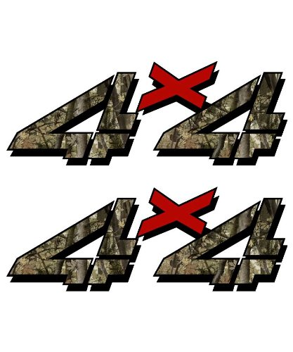 4x4 sticker set for Chevy, GMC, Sierra, Silverado Truck shocker camouflage hunting camo decal