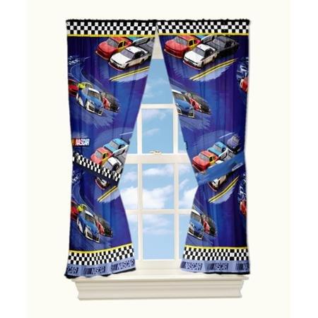 Nascar Window - Nascar 'Drafting' Curtain Panel, Set of 2
