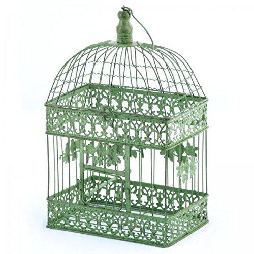 Deko jaula verde rectangular pájaro jaula metal Vintage jaula ...