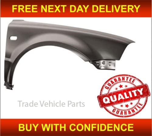 Trade Vehicle Parts VK1524 Front Wing Driver Side With Repeater Hole Compatible With Passat B5.5 2000-2005