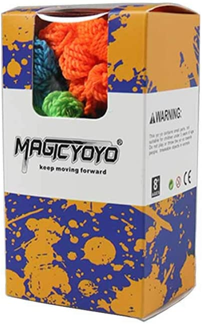 MAGICYOYO Yoyo Strings Professional 100/% Polyester Red, Orange, Yellow, Blue, Green Fits for Responsive and Non Responsive Yoyos 50pcs Pack of 50