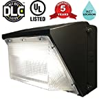 LED 135W Wall Pack Flood Light   16400 Lumens   5000 Kelvin   Multivolt 120-277V   750-900W HPS/HID Replacement   Bronze   Waterproof, Outdoor Rated   DLC And UL Listed   Great For Shops, Garages