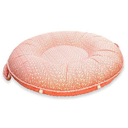 Pello Multi-use Luxe Baby-Toddler Floor Pillow/Play Mat/Lounger (Julia/Coral)