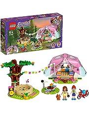 LEGO 41392 Friends Glamping in de natuur Buitenavontuur Set met Mini Poppetjes Olivia en Mia, Speelgoed voor Kinderen vanaf 6 jaar