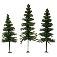 Bachmann entrena pulgadas 10 pulgadas árboles de abeto 3 por caja