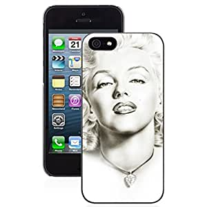 SUUER Marilyn Monroe Pattern Floral Designer Personalized Custom Plastic Hard CASE for iPhone 5 5s Durable Case Cover