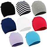 Durio Unisex Soft Baby Hats Cute Newborn Toddler Beanies Lovely Infant Caps Warm Hat for Baby Girls Boys A 8 Pack Small (0-12 Months)