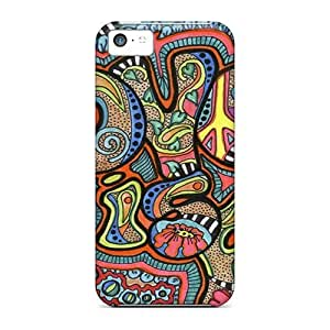 New Shockproof Protection Case Cover For Iphone 5c/ Psychedelic Love Case Cover by Maris's Diary