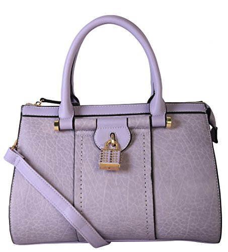 diophy-pu-leather-mini-small-studded-lock-docor-tote-womens-purse-handbag-purple