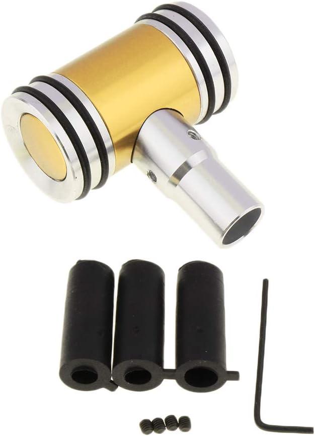 Einfache Bedienung KESOTO T Form Auto Manual Schaltknauf Griff Schalthebel Stick Adapter Kit Blau