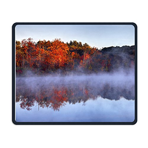 Autumn In Boston Square Computer Mouse Pad Unique Mouse Mat Size - Boston Designer Stores In