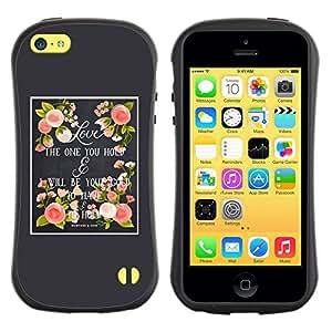 "Pulsar iFace Series Tpu silicona Carcasa Funda Case para Apple iPhone 5C , Amor de Primavera Gris Rosa melocotón de Verano"""