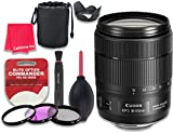 Canon EF-S 18-135mm f/3.5-5.6 IS USM Lens for Canon DSLR Cameras - International Version (No Warranty) + 3pc Filter Kit (UV, FLD, CPL) + 3pc Accessory Kit w/ Celltime Cleaning Cloth