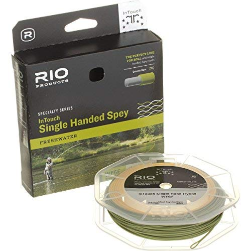 RIO Products Fly Line Intouch Single Hand Spey #6, Peach-Camo