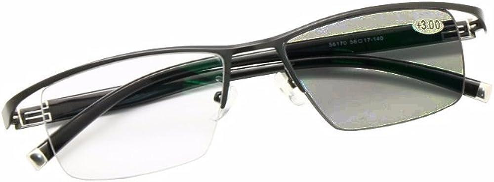 TALLA +2.50. EnzoDate Transición Fotocrómica Progresiva Multi Focus Gafas de lectura Sin línea Gradual + Rx Perspectiva Gafas de sol 0 a +300 por incrementos de 25
