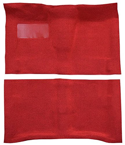 - 1964 to 1967 Chevrolet Chevelle Carpet Custom Molded Replacement Kit, 2 Door Automatic (515-Red 80/20 Loop)