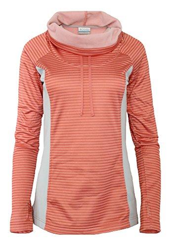Columbia Women's Mountain Run II Turtle neck Fleece Pullover Long Sleeve Shirt (S, Glow orange)