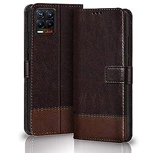 TheGiftKart Dual-Color Leather Finish Flip Back Cover for Realme 8 4G / 8 Pro | Inside Pockets & Inbuilt Stand | Wallet…