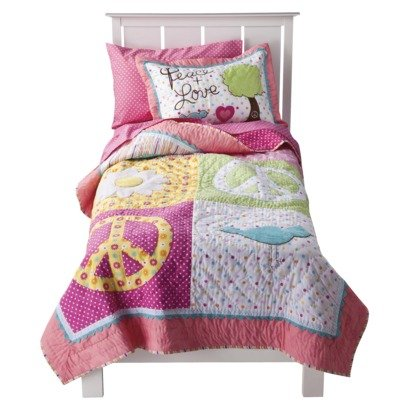 Circo® Peace Girl Twin Quilt & Sham Set - Pink